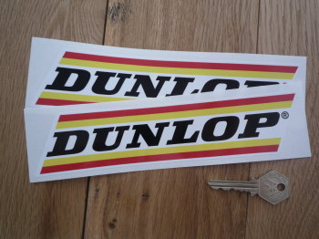 "Dunlop Narrow Stripe Stickers. 8.5"" Pair."