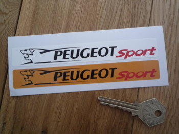 "Peugeot Sport Number Plate Dealer Logo Cover Stickers. 5.5"" Pair."