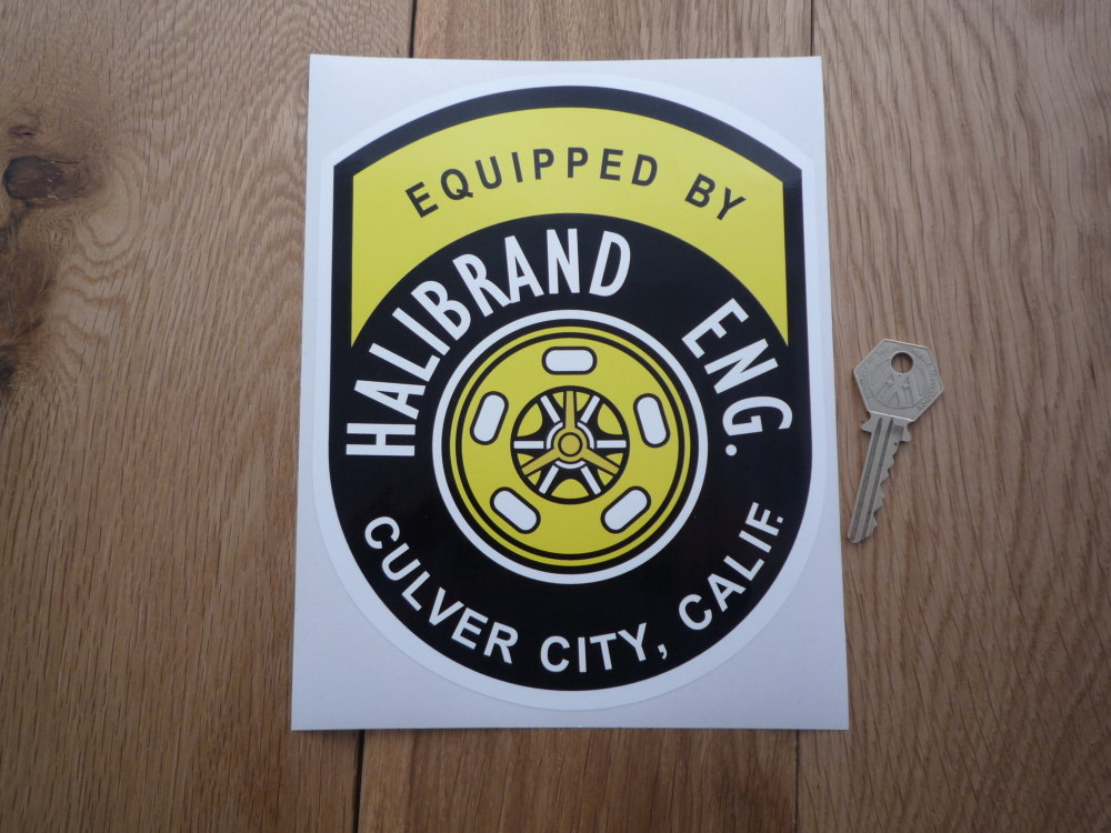 """Halibrand Eng. Equipped By Sticker. 8""""."""