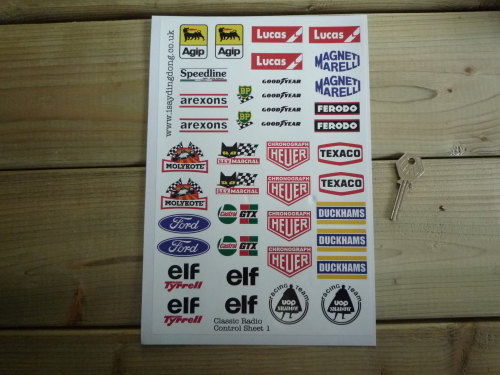 RC Radio Controlled Car Mardave Vintage Style Stickers. Set 1.