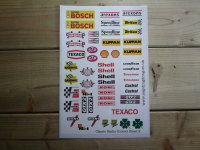 RC Radio Controlled Car Mardave Vintage Style Stickers. Set 2.