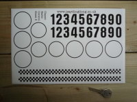 RC Radio Controlled Car Mardave Vintage Style Stickers. Set 3.