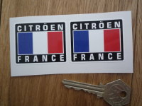 Citroen France Tricolore Style Stickers. 2