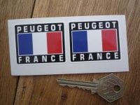 Peugeot France Tricolore Style Stickers. 2