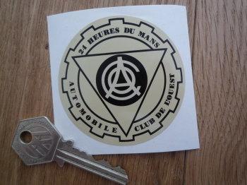 """ACO 24 Heures Du Mans Circular Sticker. 2.5""""."""