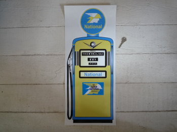 "National Petrol Pump Style Large Sticker. 24""."