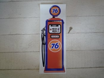 "Union 76 Petrol Pump Style Large Sticker. 24""."