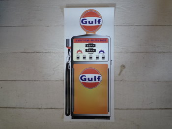 "Gulf Petrol Pump Style Large Sticker. 24""."