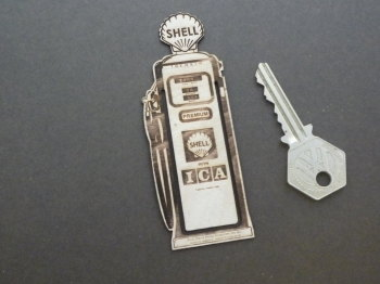 Shell Petrol Pump Wooden Laser Cut & Etched Bookmark. No.24.