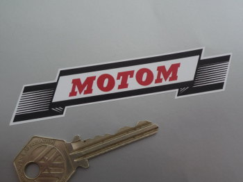 """Motom Banner Scroll Style Stickers. 4"""" Pair."""