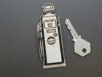 Gulf Petrol Pump Wooden Laser Cut & Etched Bookmark. No.21.