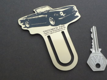 Triumph TR6 Gold Acrylic Laser Cut & Etched Bookmark. No.34.