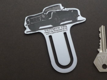 Triumph TR4 Silver Laser Cut & Etched Bookmark. No.33.