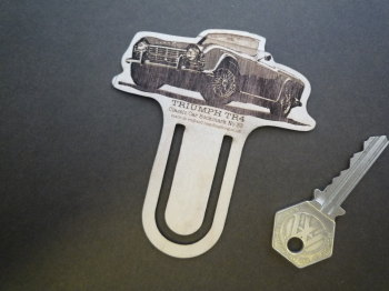 Triumph TR4 Wooden Laser Cut & Etched Bookmark. No.33.