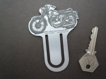 BSA Lightning Silver Laser Cut & Etched Bookmark. No.9.