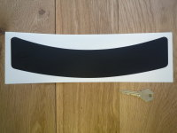 "Plain Block Colour Helmet Visor Sunstrip Stickers. 12""."