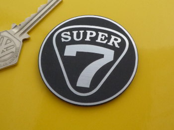 Lotus Caterham Westfield Super 7 Round Self Adhesive Car Badge. 24mm, 40mm or 56mm.