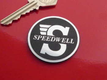 Speedwell Round Laser Cut Self Adhesive Badge. 20mm or 44mm.