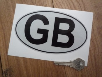 "GB Reflective with Black Outline ID Plate Sticker. 6""."