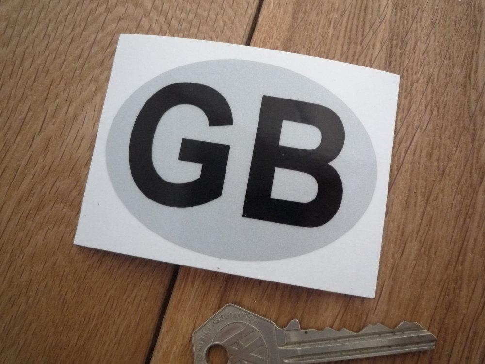 "GB Reflective Plain ID Plate Sticker. 3""."