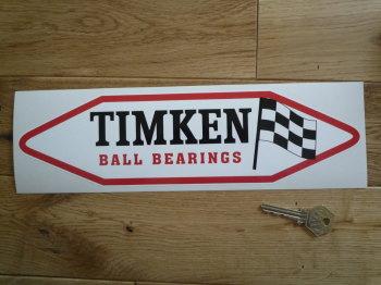 "Timken Ball Bearings. Red, Black & White, Shaped Sticker. 12""."