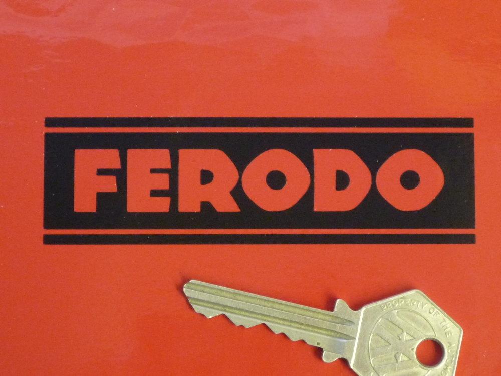 "Ferodo Cut Vinyl Stickers. 4"" Pair."
