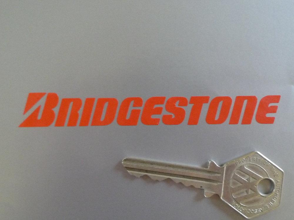 "Bridgestone Cut Vinyl Text Stickers. 4"" Pair."