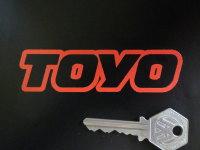 "Toyo Text Outline Cut Vinyl Stickers. 4"" Pair."