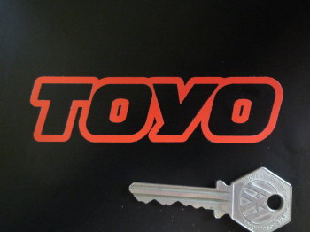"Toyo Text Outline Cut Vinyl Stickers. 4"" Pair."