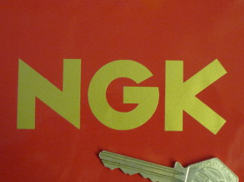 "NGK Text Cut Vinyl Stickers. 3.75"" Pair."