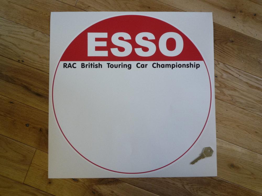 Esso RAC British Touring Car Championship Circular Door Panel Sticker. 400mm.