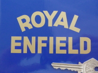 Royal Enfield Curved Text Sticker. 102 x 57mm.