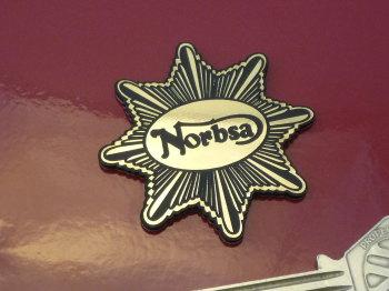 "Norbsa Star Style Laser Cut Self Adhesive Bike Badge. 2""."