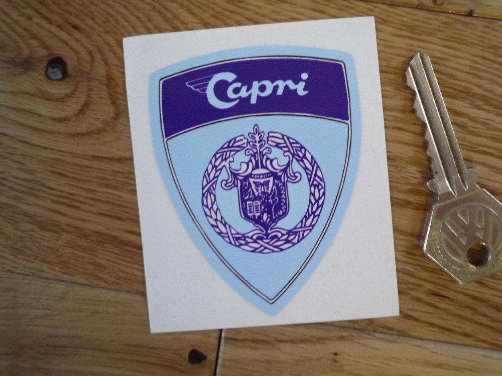 Capri Shield Shaped Sticker. 3