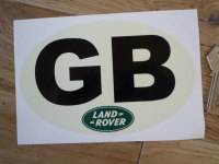 "Land Rover Old Style GB ID Plate Sticker. 7""."
