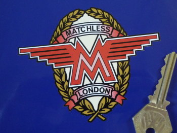 "Matchless Garland Style 2 Side Panel Sticker. 4""."