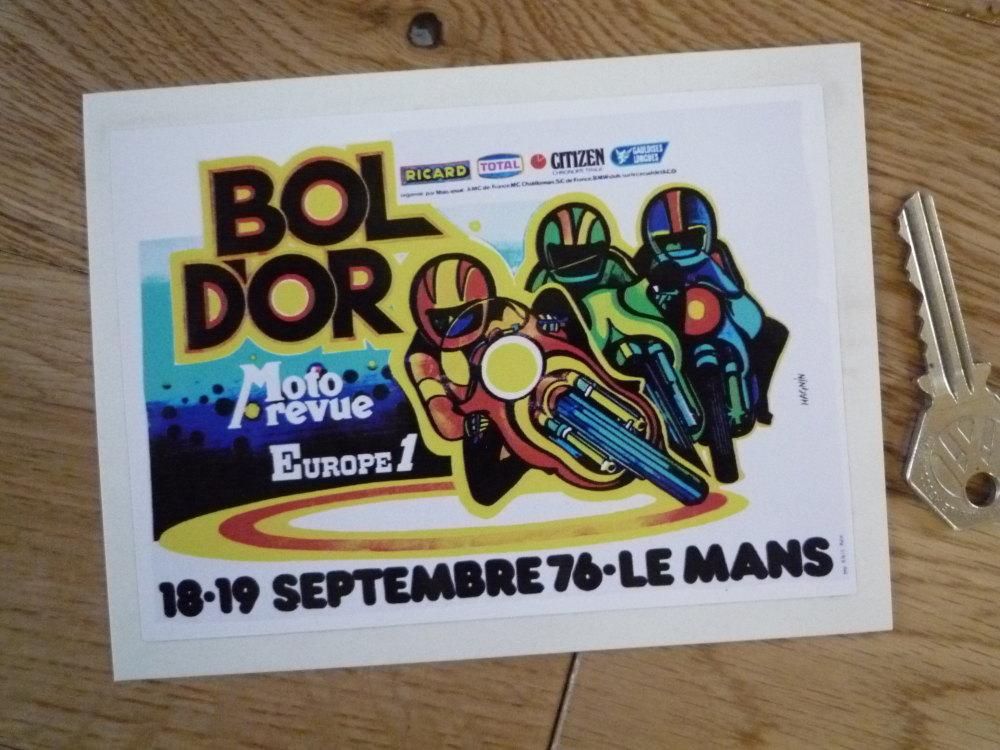 """Bol d'Or Endurance Race 1976 LeMans Sticker. 5""""."""