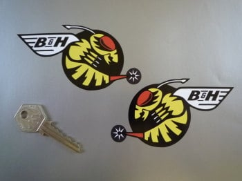"Jordan B&H Buzzing Hornets Handed Stickers. 4.5"" Pair."
