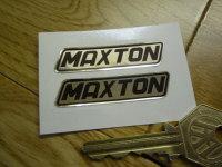 "Maxton Black & Foil Stickers. 2"" Pair."