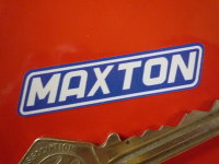 "Maxton White & Blue Stickers. 1.25"" or 2"" Pair."