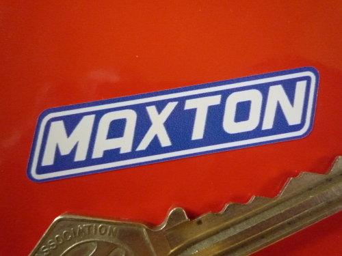 Maxton White & Blue Stickers. 1.25