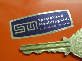 "Specialised Moulding Ltd Blue & Foil Sticker. 2""."