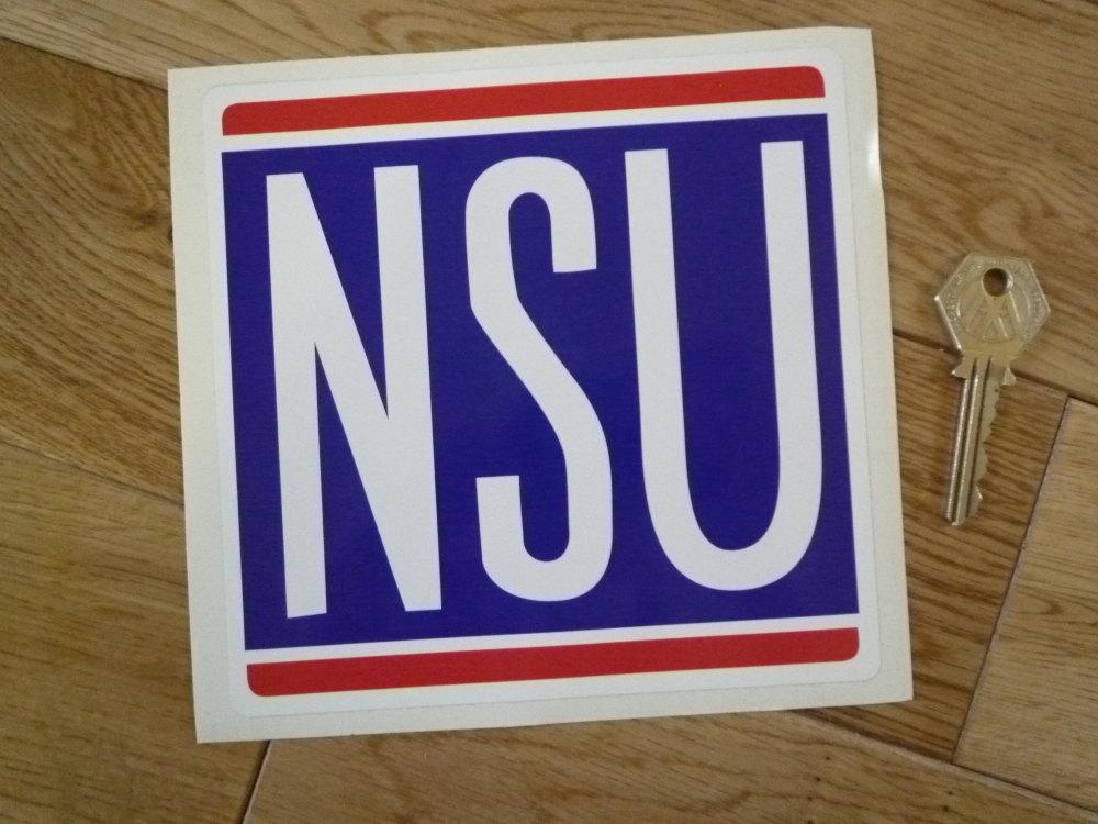 """NSU Classic Square Sticker. 6"""" or 8""""."""