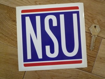 "NSU Classic Square Sticker. 6"" or 8""."