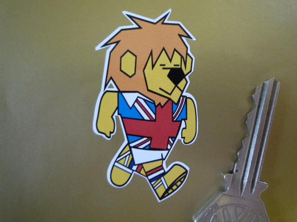 "World Cup Willie 1966 Football Sticker. 2.5""."