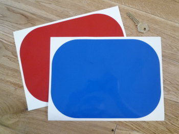 "Racing Roundel Plain. Rounded Oblong. Various Colours - 8"" or 10"""