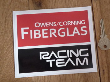 "Owens/Corning Fiberglas Racing Team Sticker.6""."