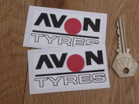 "Avon Tyres Outline Style Spot Stickers. 3"" Pair."