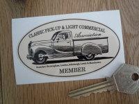 "Classic Pick-Up & Light Commercial Association Member Sticker. 3.5""."