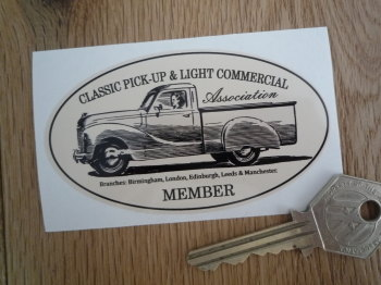 "Classic Pick-Up & Light Commercial Association Member Sticker. 3.5""."